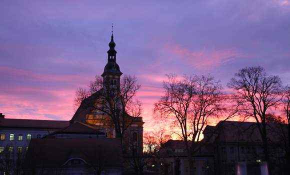 Sonnenaufgang dem Kloster