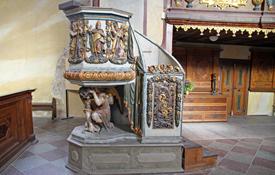 Fahrbare Kanzel in der Kreuzkirche