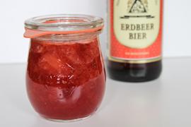 Erdbeermarmelade mit Bier